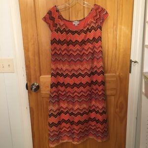 Beautiful Avenue orange multi dress.